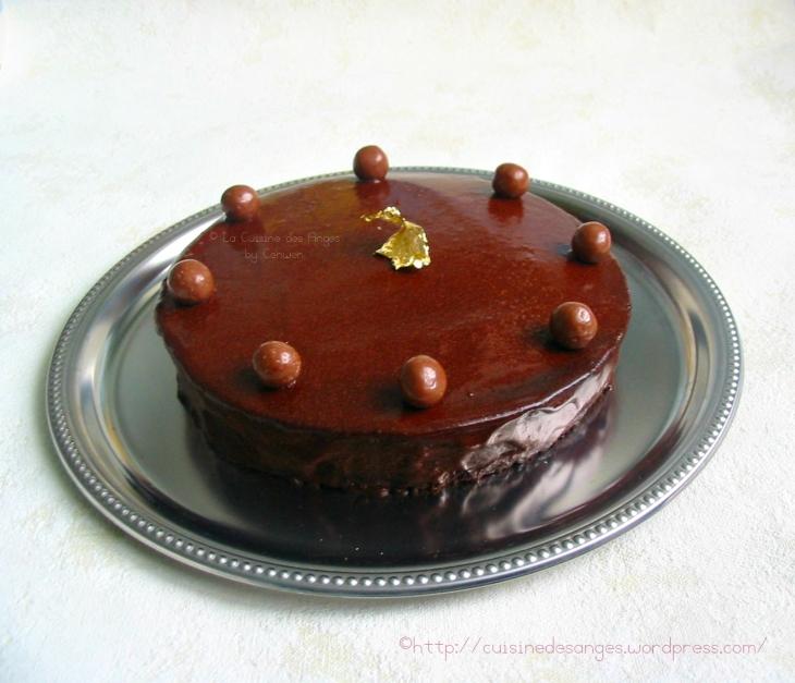 recette économique et simple de gâteau au chocolat avec un glaçage au cacao