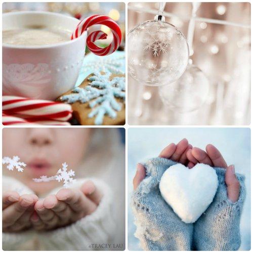Mosaïque d'images pour souhaiter un joyeux Noël