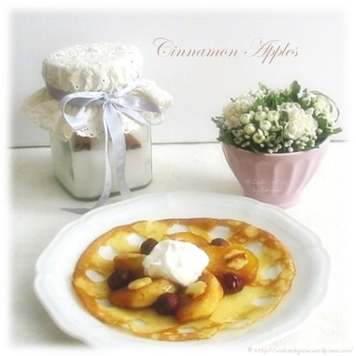 recette économique de crêpes garnies de pommes à la cannelle