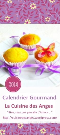 page de couverture du Calendrier Gourmand 2014 de La Cuisine des Anges