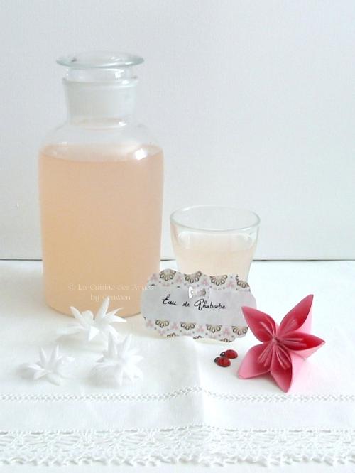 Recette économique de boisson rafraichissante à base de rhubarbe, sucre et eau