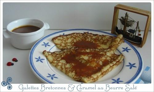 recette traditionnelle des crêpes bretonnes, accompagnées de caramel au beurre salé