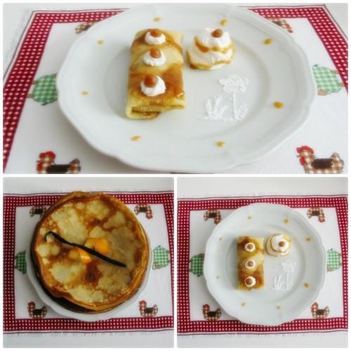 recette de pannequets, petites crêpes fourrées avec des pommes à la cannellle
