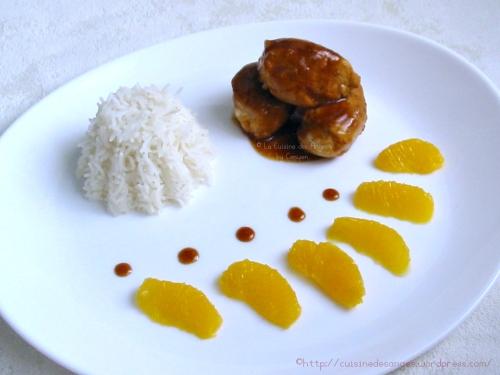 recette économique d'escalopes de poulet mariné à l'orange, jus et zeste