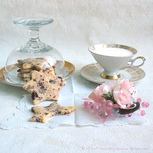 Recette de biscuits sablés avec des pépites de chocolat