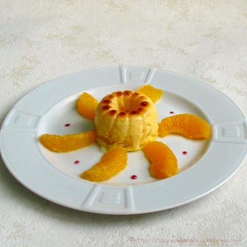 recette économique, gâteau de semoule au lait parfumé à l'orange et à la noix de muscade