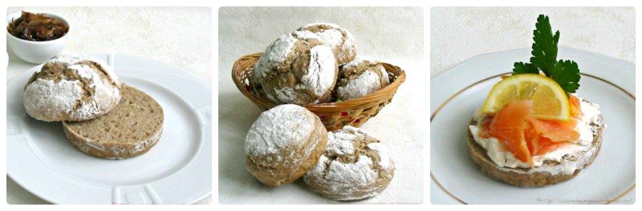 recette de Petit pain à la farine de seigle avec des graines de tournesol