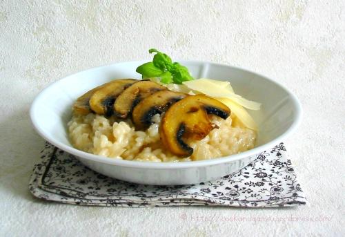 recette classique du risotto aux cèpes ou tout autre champignon