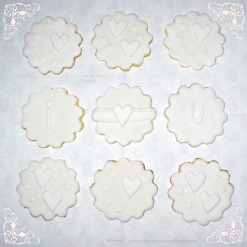 Recette de sablés décorés avec de la pâte à sucre pour la Saint Valentin