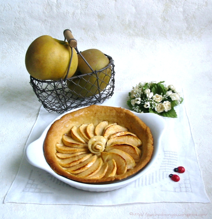 recette de tarte aux pommes weight watchers, pâte légère et pommes