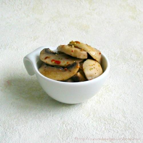 recette économique de champignons de paris cuits au beurre