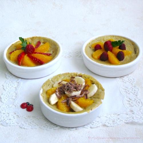 recette économique et légère de dessert à base de poires et d'oeufs, comme un flan à accompagner de fruits frais