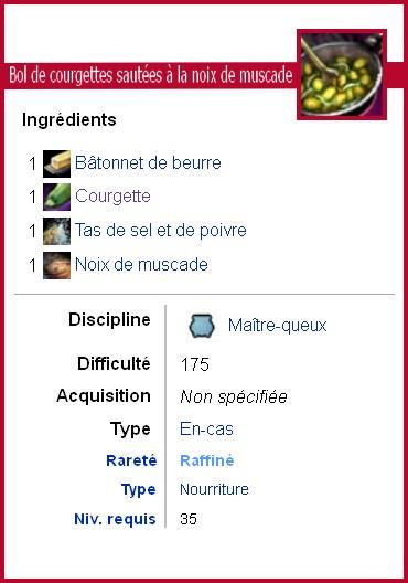 fiche technique des recette de cuisine