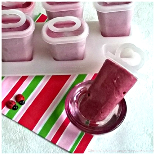 recette de glace facile et économique à base de framboises fraiches ou surgelées et de lait concentré