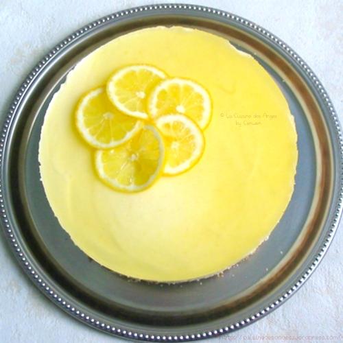 recette de dessert facile et économique, bavarois au fromage blanc avec de la crème, du lemon curd et du citron