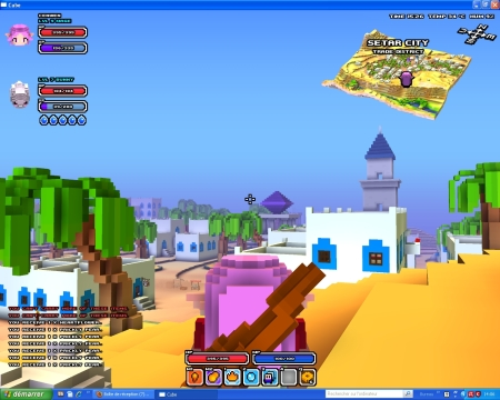 ube World, screen de la ville de Setar City