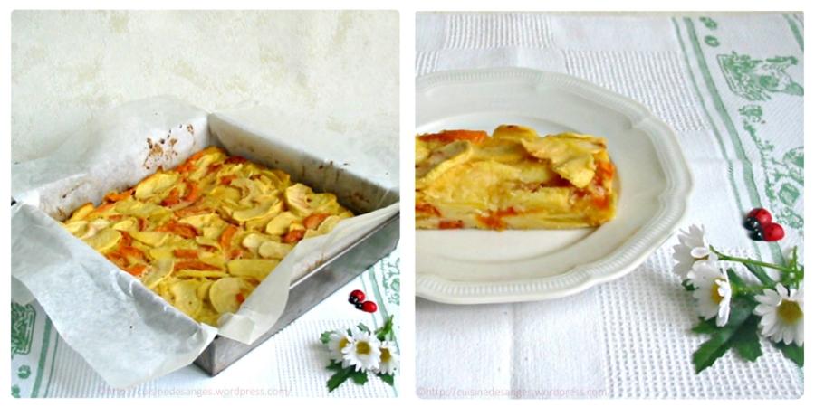 Gâteau Invisible aux pommes et auxabricots
