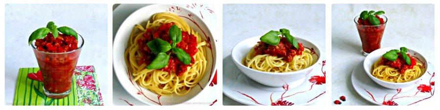 Sauce tomates, poivrons etchorizo
