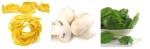 recette fins de mois difficiles, pâtes aux champignons et épinards