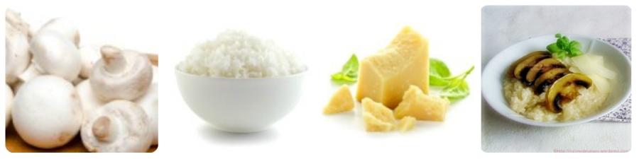 recette classique du risotto aux champignons : riz, vin blanc, parmesan, champignons de Paris ou Cèpes
