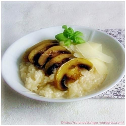 recette du vrai risotto aux champignons sans crème