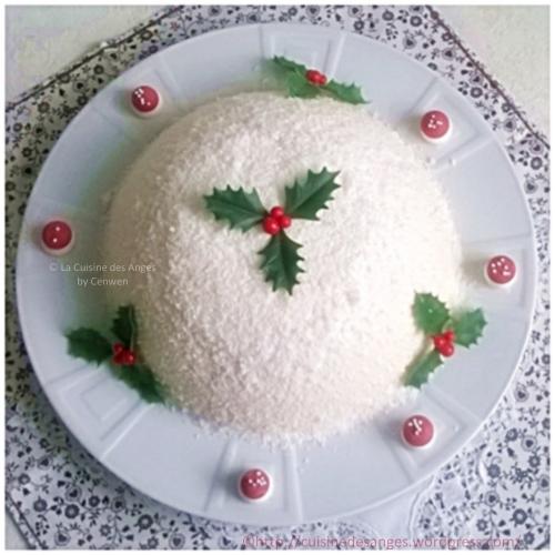 Recette de Noël petit budget, bûche à la confiture de lait, pommes au caramel et pain d'épices