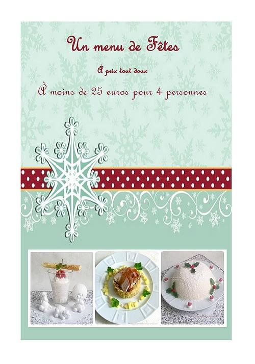 Un menu de Noël à moins de 25 euros pour 4 personnes