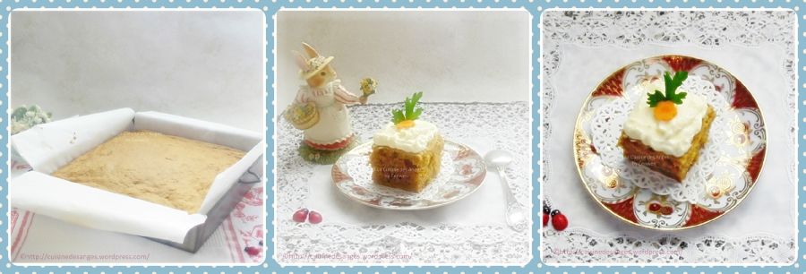Carrot Cake avec glaçage au fromage frais, versionallégée