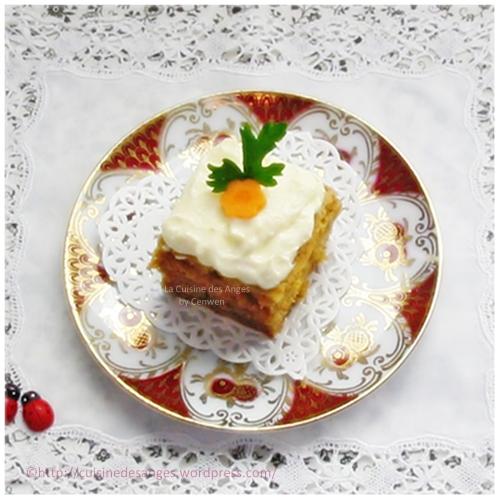 recette de gâteau à la carotte ou carrot cake à la cannelle avec un glaçage au fromage frais