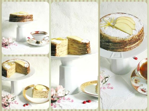 Recette facile de gâteau de crêpes aux pommes