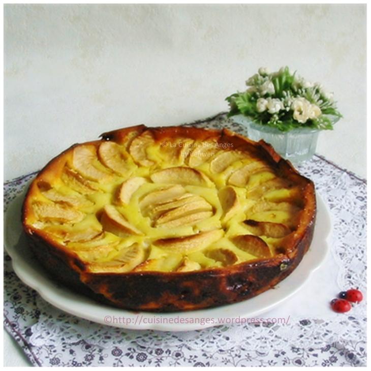 recette légère de gâteau aux pommes à base de fromage blanc