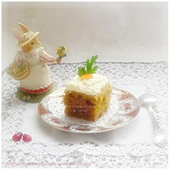 recette facile et légère de gâteau aux carottes ou carrot cake avec un glaçage au fromage frais