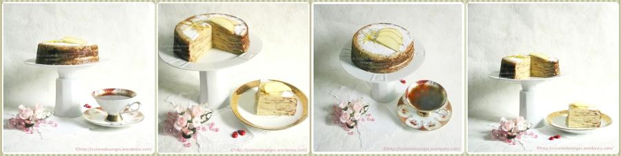 Gâteau de Crêpes aux Pommes et auCitron