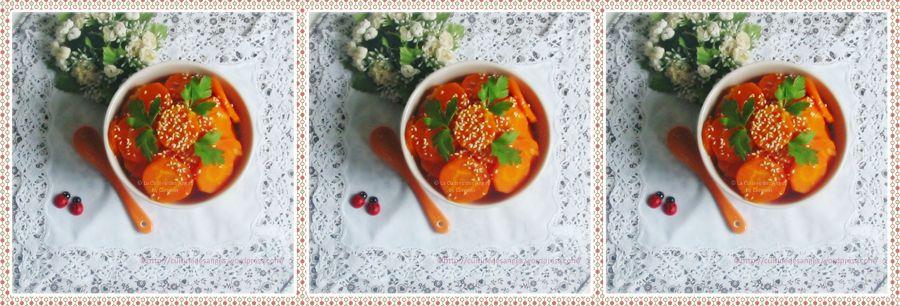 Carottes à l'orange, au miel et augingembre