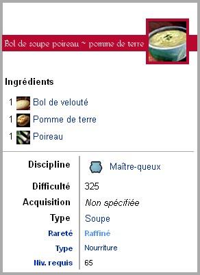 fiche technique de la recette Bol de soupe poireau-pomme de terre