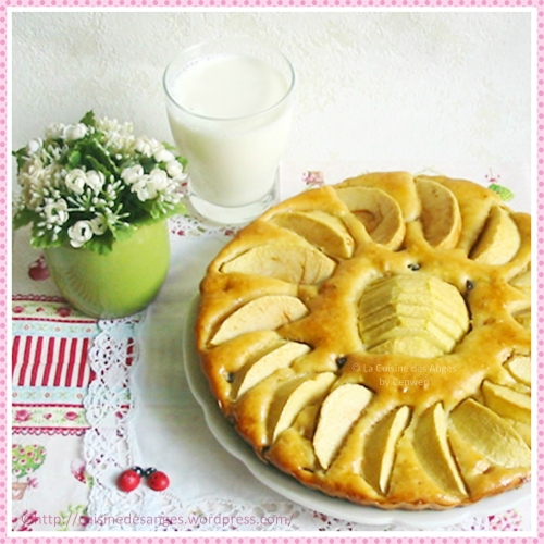 recette ééconomique de dessert, tarte limousine aux pommes