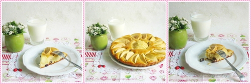 Recette facile et petit budget, tarte aux pommes avec de la vanille et des cranberries