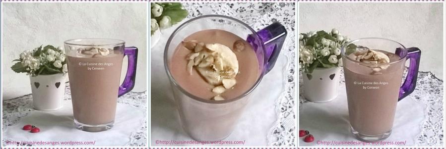 Milk-shake banane, cacao, tofusoyeux