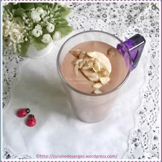 milk shake banane cacao tofu soyeux la cuisine des anges. Black Bedroom Furniture Sets. Home Design Ideas