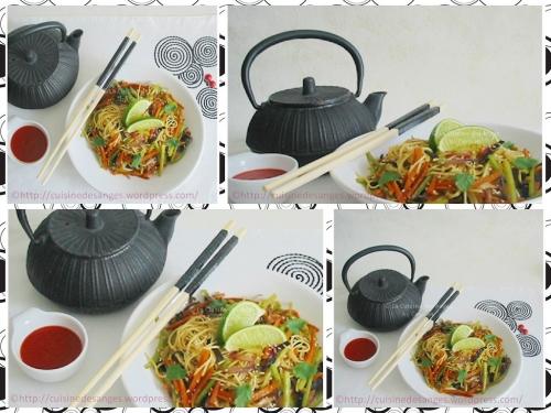 Recette économique et facile de Nouilles chinoises sautées aux céleri et carottes