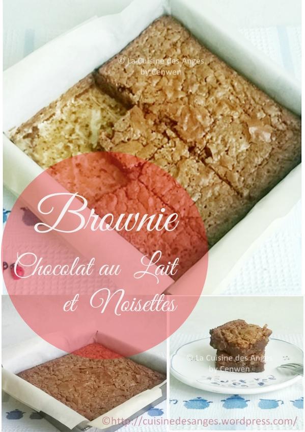 Recette facile et gourmande de brownie au chocolat au Lait et aux noisettes