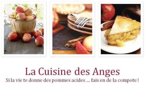 Image d'en-tête du billet de rentrée du blog La Cuisine des Anges