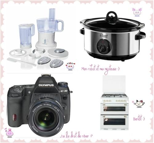 Liste de souhaits pour équiper ma cuisine