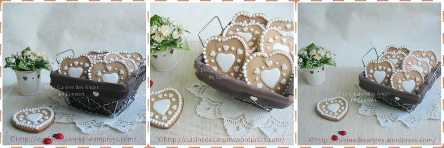 Biscuits décorés : cœurs en pain d'épices pour la SaintNicolas