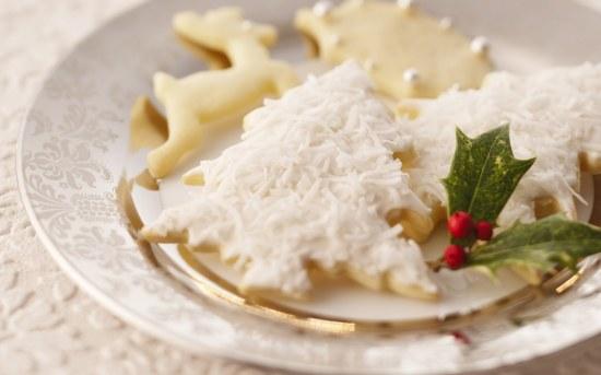 biscuits sablés à la vanille sur le thème de Noël