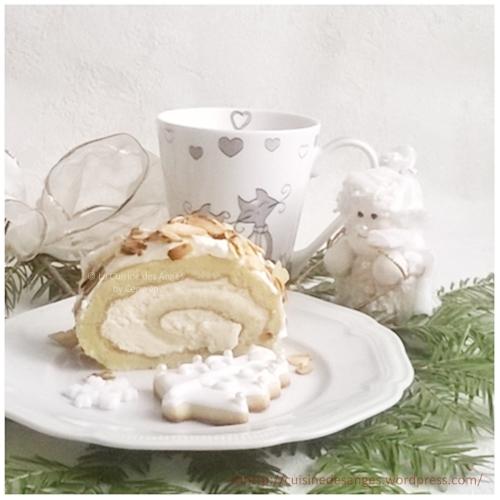 ○ { Bûche de Noël aux amandes entre nous ♥ } ○