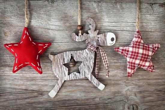 guirlande de Noël shabby chic