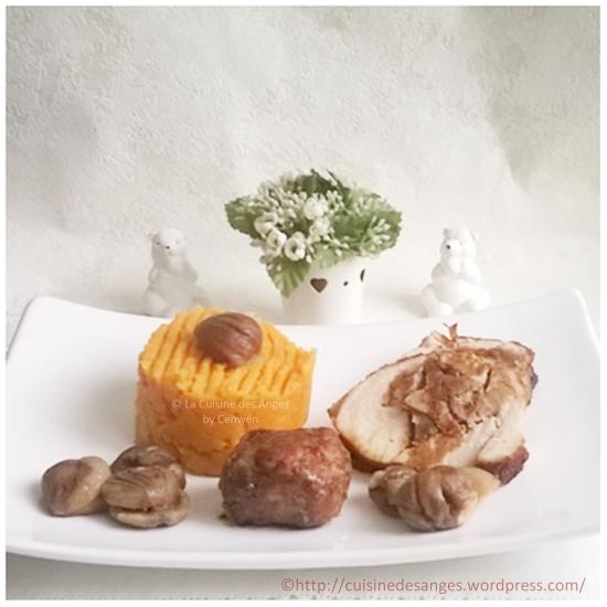 recette facile de rôti de dinde farci aux marrons et à la chair à saucisse