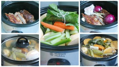 Recette du pot-au-feu traditionnel cuit à la mijoteuse, étapes de préparation