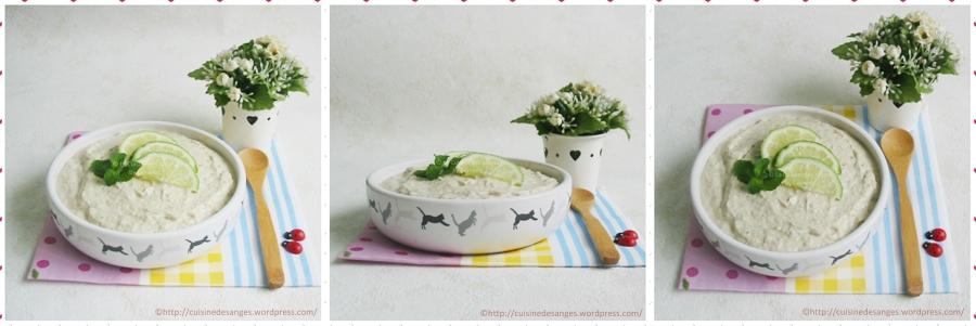 Rillettes de maquereaux au tofu soyeux, gingembre et citronvert